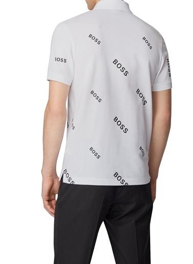 Hugo Boss  Düğmeli Slim Fit Polo T Shirt Erkek Polo 50435783 100 Beyaz